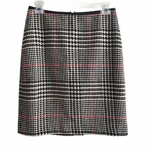 Talbots Plaid Houndstooth Pencil Skirt Size 4P